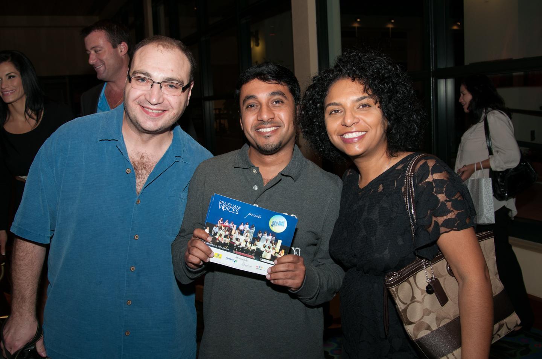John, Yahia (Oman) e Joselina.