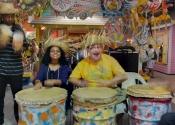 John & Joselina em viagem às Bahamas.