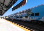 Trem que liga os três condados no sul da Flórida.